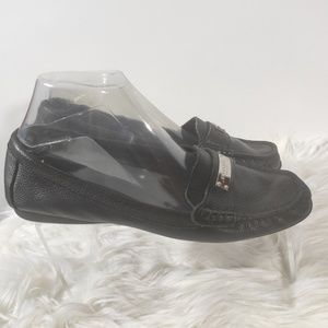 Coach black leather loafers Fredrica